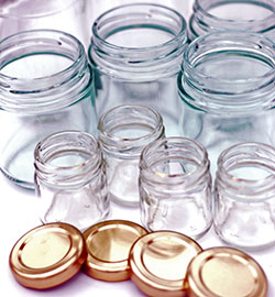 Recycled jars are free